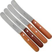 Robert Herder Buckels set de 4 couteaux petit déjeuner, prunier, acier carbone