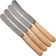 Robert Herder Buckels set de 4 couteaux, cherry wood