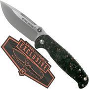 Real Steel Blue Sheep H6 Shredded Copper Carbonfiber, Knivesandtools Exclusive 7778 couteau de poche