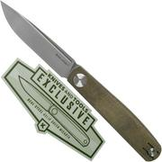Real Steel G-Slip 7846 Green Micarta Knivesandtools Exclusive slipjoint couteau de poche, Ostap Hel design