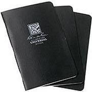 """Rite in the Rain notebook 4 5/8"""" x 7"""" zwart, 3 stuks, 771FX"""