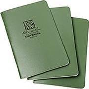 "Rite in the Rain notebook 4 5/8"" x 7"" groen, 3 stuks, 971FX"