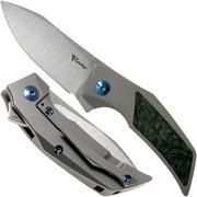 Reate T2500 Marble Carbon Fibre coltello da tasca, Tashi Bharucha design