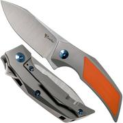 Reate T2500 Orange G10 coltello da tasca, Tashi Bharucha design