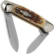 Rough Ryder Mini Canoe Amber Bone RR058 slipjoint pocket knife