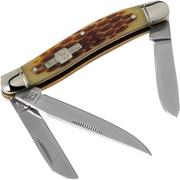Rough Ryder Stockman Amber Bone RR438 slipjoint pocket knife