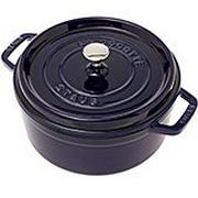 Staub braadpan - cocotte 24cm, 3,8L, blauw