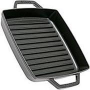 Staub grillpan 23cm vierkant, zwart
