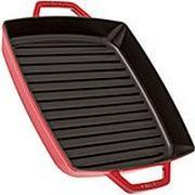 Staub grillpan 28cm vierkant, rood