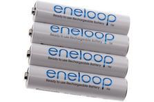 Panasonic/Sanyo Eneloop AAA 4x oplaadbare NiMH-batterijen, 750mAh