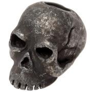 Schmuckatelli Classic Skull Bead Black Oxidized