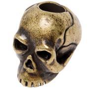 Schmuckatelli Classic Skull Bead Black Roman Brass Oxidized