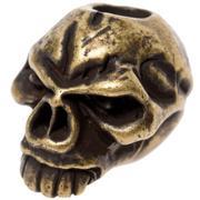 Schmuckatelli Emerson Skull Bead Roman Brass Oxidized