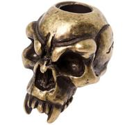 Schmuckatelli Fang Skull Bead Black Roman Brass Oxidized