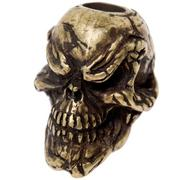 Schmuckatelli Grins Skull Bead Roman Brass Oxidized