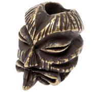 Schmuckatelli Kiko Tiki Bead Roman Brass Oxidized