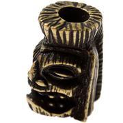 Schmuckatelli Ku Tiki Bead Roman Brass Oxidized