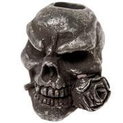 Schmuckatelli Rose Skull Bead Black Oxidized