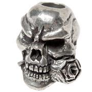 Schmuckatelli Rose Skull abalorio Pewter