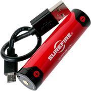 SureFire 18650 batería recargable de iones de litio, 3500mAh