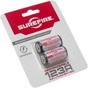 SureFire oplaadbare 123A accu, 2 stuks