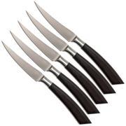 Saladini ensemble 6 pièces couteaux à steak 23 cm, corne de buffle