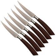 Saladini 6-pc steak knife set 23 cm, wengé