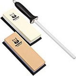 Skerper Basic set per affilare 180/600/1000/3000 con acciaino in ceramica, SH004