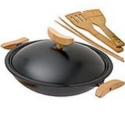 Spring wok hierro fundido con tapa 35 cm, 4,0L