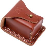 TOPS Knives Leather Bushcraft Pouch Brown SHL-LBP-01