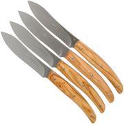 Viper Costata steak knife set olive wood 4-piece, VT7502-04UL