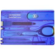 Victorinox SwissCard Classic bleu transparent 0.7122.T2