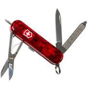 Victorinox Signature Lite, Swiss pocket knife, transparant red