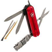 Victorinox Nail Clip 580, couteau suisse, rouge transparent