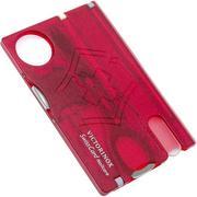 Victorinox SwissCard Nailcare transparant rood 0.7240.T