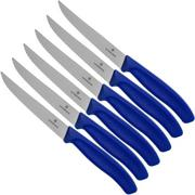 Victorinox SwissClassic 6.7232.6, Juego de cuchillos para carne de 6 piezas, azul