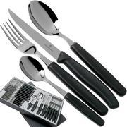 Victorinox SwissClassic 6.7233.24, 24-piece cutlery set, black