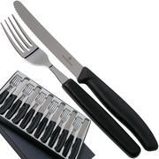 Victorinox SwissClassic 6.7833.12, Juego de cuchillos para tomate de 12 piezas, negro