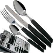 Victorinox Swiss Modern 6.9093.11W.24, 24-piece cutlery set with tomato knife, black