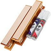 Wicked Edge 1/0.5 Micron Poly Diamond Emulsion & Leather Strops Pack