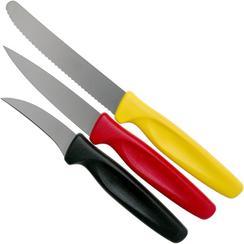 Wüsthof Create Collection set di coltelli per sbucciare 3-pezzi, nero, rosso e giallo