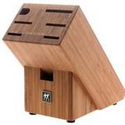 Zwilling, bloc à couteaux solide en bois pour 7 pièces.
